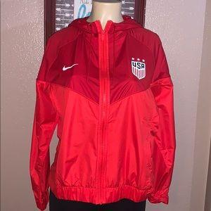 Nike Women's USA Soccer Red Windbreaker Jacket